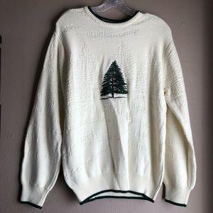 Men's Roundtree & Yorke Ivory Sweater Tree Size M